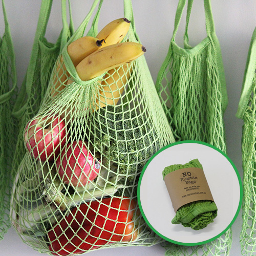cotton mesh string bag single
