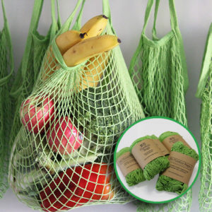 cotton string mesh bag - 5 pack