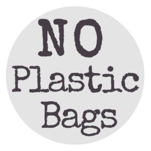 No Plastic Bags round logo