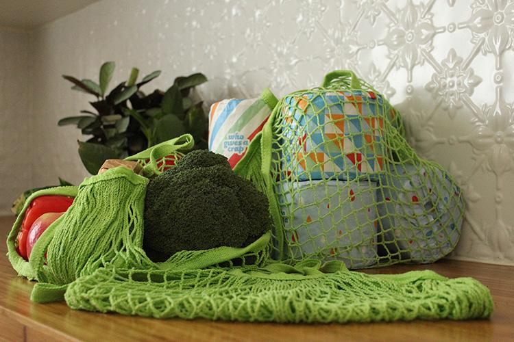 cotton string reusable shopping bags
