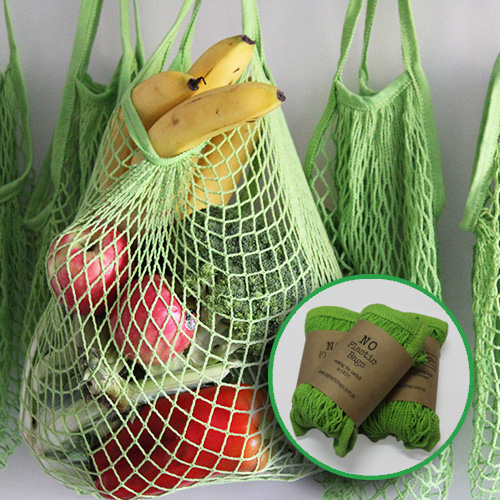 cotton mesh string bags - 3 pack